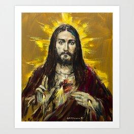 Cor Jesu Sacratissimum Art Print