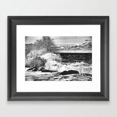 Waves and Spray #9 Framed Art Print