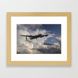 Lancaster and Mosquito Legends Framed Art Print