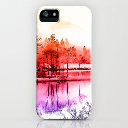 Tranquility in Red iPhone Case