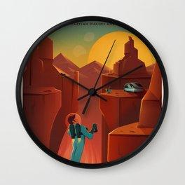 Vintage SpaceX Valles Marineris Mars Travel Wall Clock