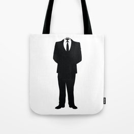 Anonymous Headless Tuxedo Suit Silhouette Man Tote Bag