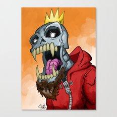 Jackhook Metal Skeleton Canvas Print