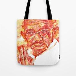 MAHATMA GANDHI - watercolor portrait Tote Bag