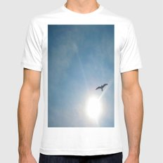 to Soar... MEDIUM White Mens Fitted Tee