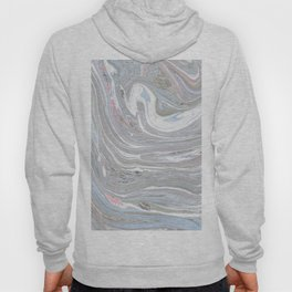 Abstract pink blue gray watercolor marble pattern Hoody