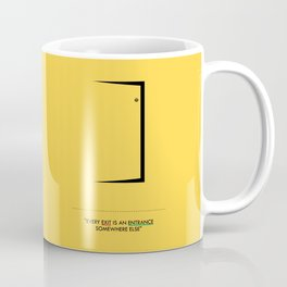 Lab No. 4 - Door Minimalist Modern Wall Art for Entrance Coffee Mug