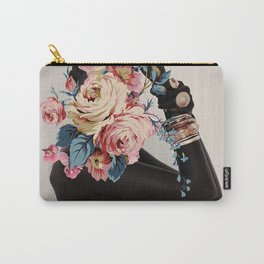Black of flowers Carry-All Pouch