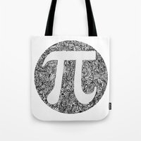 pi Tote Bags featuring PI by Nora