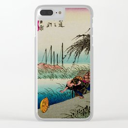 Yokkaichi - Vintage Japanesse Ukiyo e Art Clear iPhone Case