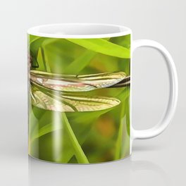 Dragonfly In Brown And Yellow Coffee Mug