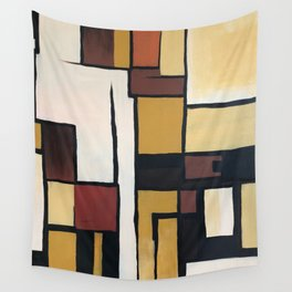 Composition with squares and rectangles Wall Tapestry