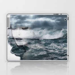 Sea. Double exposure portrait Laptop & iPad Skin