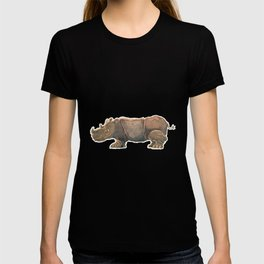 Thinking Rhinoceros T-shirt