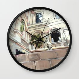 Statue Room in the Louvre Wall Clock
