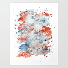 Red, White, and Blue Art Print