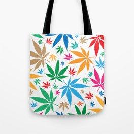 marijuana leaf color pattern Tote Bag