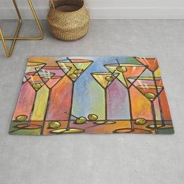 Martini Bar ... Abstract alcohol lounge bar kitchen art Rug