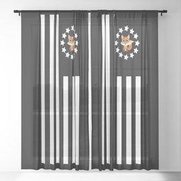 Fox Nerd - Flag Sheer Curtain