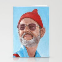 steve zissou Stationery Cards featuring Steve Zissou by BookOfFaces