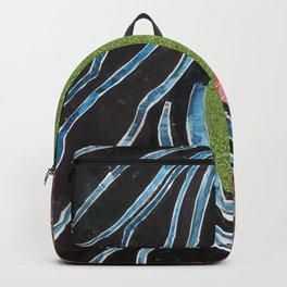 Black Hair Lady Backpack