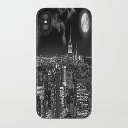 New York Under the Moon iPhone Case