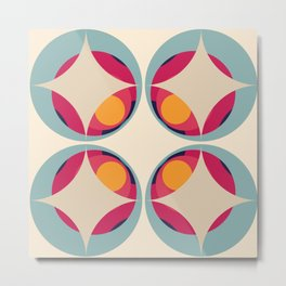 Retro Colored Shapes 05 Metal Print