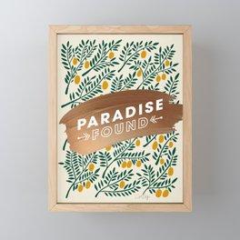 Paradise Found – Yellow Palette Framed Mini Art Print