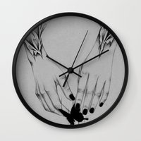 tyler the creator Wall Clocks featuring Creator II by The White Deer