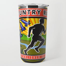 Country Marathon Run Icon Travel Mug