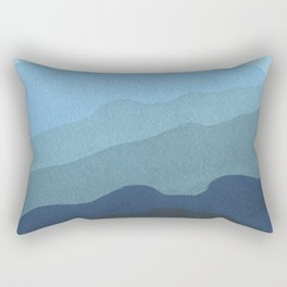 Landscape Blue Rectangular Pillow