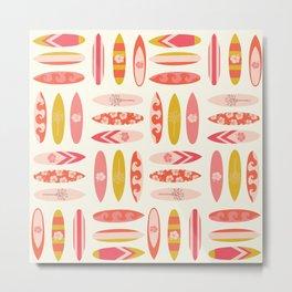 Surfboard Pattern Women Metal Print