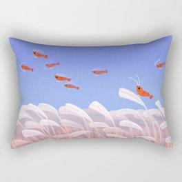 Flying cherry shrimp Rectangular Pillow