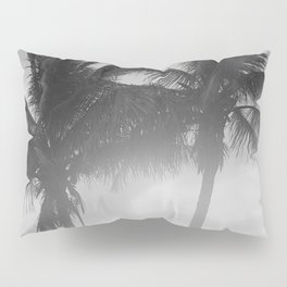 Black and White Florida Palm Trees Photograph (1915) Pillow Sham