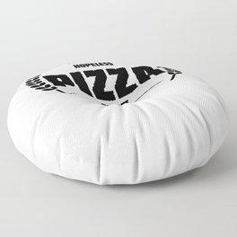 Hopeless Pizza Addict Funny Addiction Floor Pillow