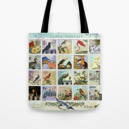 Birds of a Feather Postal Collage Tote Bag