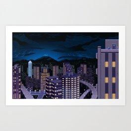 Mega Man Title Screen Art Print