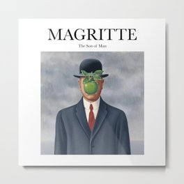 Magritte - The Son of Man Metal Print