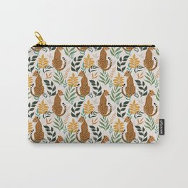 Spring Cheetah Pattern I - Green and Yellow Carry-All Pouch