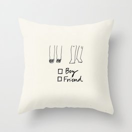 BOY (AND/OR) FRIEND Throw Pillow