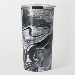 Marble in Black Ink Travel Mug