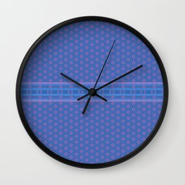 Blue Pink Delicate Patterns Wall Clock