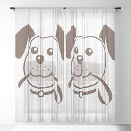 Lots of Cute Doggos Sheer Curtain