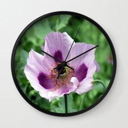 Poppy and Bee Wall Clock