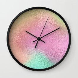 Simply Metallic in Iridescent Rainbow Wall Clock