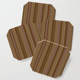 Chocolate Stripes Coaster