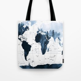ALLOVER THE WORLD-Woods fog map Tote Bag