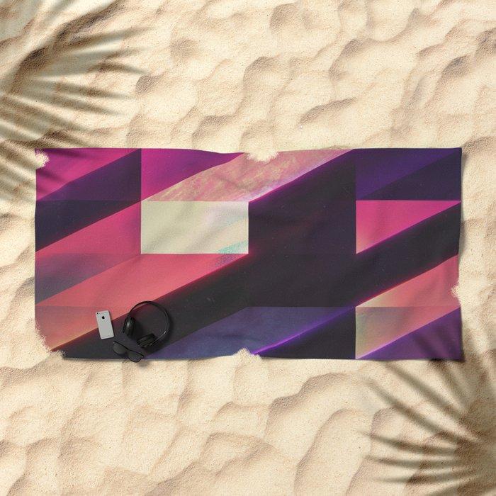 synthblyck Beach Towel