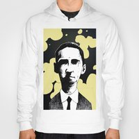 lovecraft Hoodies featuring H.P. Lovecraft by James Courtney-Prior