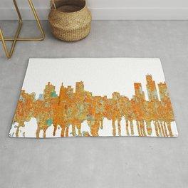 Detroit, Michigan Skyline - Rust Rug